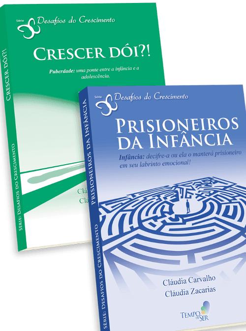 capas prisioneiros da infância e crescer doi